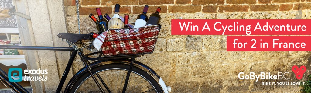 Fall GoByBike Weeks Grand Prize sponsored by Exodus Travels